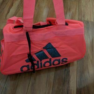 adidas Bags - nWT adidas diablo neon pink duffle bag Small 1896fbfd2ddd3